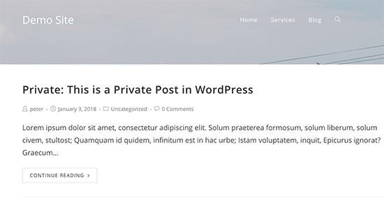 آموزش ارسال پست خصوصی در وردپرس